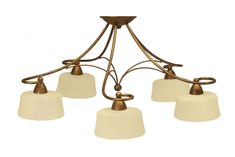 Alessa 5 Light Flush Fitting Bronze Gold Outdoor Lighting, Chandelier, Bronze, Indoor, Ceiling Lights, Gold, Home Decor, Interior, Candelabra