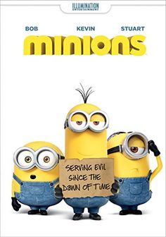 Minions on DVD from Universal. Directed by Pierre Coffin and Kyle Balda. Staring Pierre Coffin, Katy Mixon, Jon Hamm and Steve Carell. More Comedy, Family and Animated Feature Films DVDs available @ DVD Empire. Minion Movie, Minions Minions, Funny Minion, New Movies, Good Movies, Movies And Tv Shows, 2015 Movies, Universal Studios