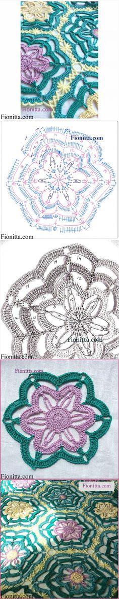 Мотив крючком. Удивительные по форме цветки пассифлоры.МК..