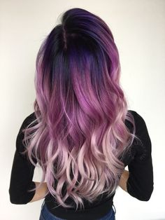 40 Stunning Purple Hair Color Ideas in 2019 40 Stunning Purple Hair Color Ideas in 2019 – Street Style Inspiration – Station Of Colored Hairs Cute Hair Colors, Beautiful Hair Color, Hair Color Purple, Hair Dye Colors, Hair Color For Black Hair, Cool Hair Color, White Hair, Black To Purple Hair, Pink White