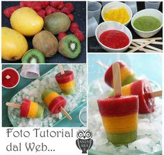 No problem, cool off with these homemade frozen fruit pops made with fresh mango, kiwi, and raspberry fruit puree. Popsicle Recipes, Fruit Recipes, Frozen Fruit Popsicles, Homemade Popsicles, Fruit Lollies, Healthy Popsicles, Smoothie Popsicles, Homemade Ice, Helado Natural