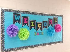 welcome back to school bulletin board for instructional coach Back To School Bulletin Boards, Preschool Bulletin Boards, Bulletin Board Display, Classroom Bulletin Boards, Classroom Door, Bullentin Boards, Display Boards, Classroom Ideas, Preschool Welcome Board
