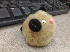 Pet THeme PreK - Hamster made from pom-poms