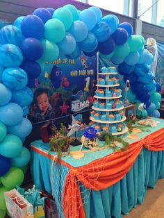 Finding Nemo theme Birthday Party Ideas | Photo 17 of 20 | Catch My Party