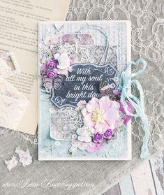 Gentle mint lilac card (Бум-Бюро)