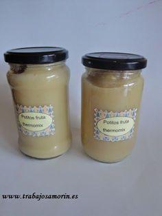 Potitos caseros y poder tenerlos en conserva, cocida la fruta para que se conserve Thermomix