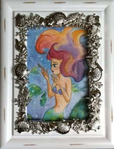 Ariel and the Dinglehopper Watercolor Painting