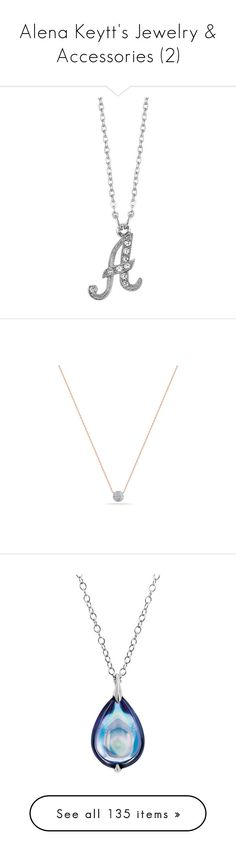 """""""Alena Keytt's Jewelry & Accessories (2)"""" by nena-layden ❤ liked on Polyvore featuring jewelry, necklaces, grey, imitation jewellery, artificial jewellery, initial jewelry, letters necklace, initial necklace, accessories and joias"""