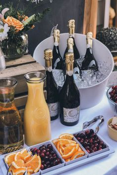 Mimosa Bar Brunch Party # Food and Drink ideas bridal shower Brunch Party Decorations, Brunch Decor, Brunch Buffet, Brunch Bar Ideas, Birthday Brunch, Easter Brunch, 21st Birthday, Easter Food, Birthday Ideas