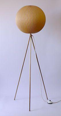 Original 1950s Tripod FLOOR LAMP Atomic Eames Danish Modern 50s 60s 70s Era