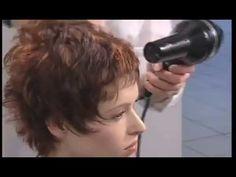 Укладка феном коротких волос