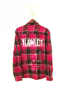 FLAWLESS Shirt in Red/Black Plaid Flannel. Unisex + OOAK. BambiAndFalana.com