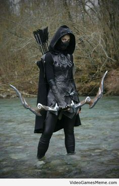 Awesome Nightingale cosplay! They even made the Nightingale bow!