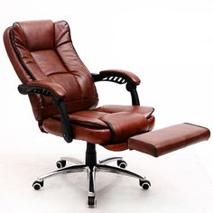 The Boss Chair Home Computer Chair Leather Office Chair Swivel Chair Seat  Bow Lay Staff Meeting