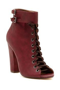 Marika Open Lace-Up Bootie//