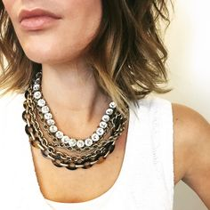 """Tortoise + Chain Convertible Necklace antique gold-plated nickel-free plating 18"""" - 28"""" approx. length + 2"""" converter double clip closure resin tortoise links Chloe + Isabel Accessories"""