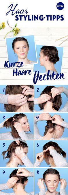 Kurze Haare zu flechten, geht nicht? Und ob: Mit diesen 8 Schritten kreiert ihr ganz einfach eine romantische Flechtfrisur.
