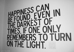 Love this, must remember to turn on the light!