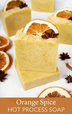 This Orange Spice Hot Process Soap Tutorial shows you how to create rustic soap from scratch. It's made with essential oils and natural orange powder. Slow Cosmetic, Savon Soap, Soap Tutorial, Homemade Soap Recipes, Cold Process Soap, Handmade Soaps, Diy Soaps, Home Made Soap, Homemade Beauty