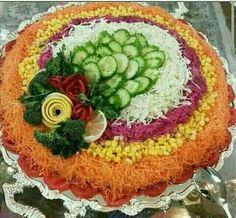 Arte en frutas y comidas