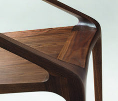 Bernhardt Design   Loft- lounge chair   solid walnut   by Shelly Shelly (2008)