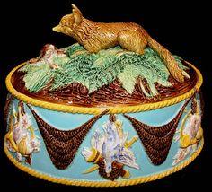 Majolica George Jones game pie tureen by Antique Majolica Specialist, via Flickr