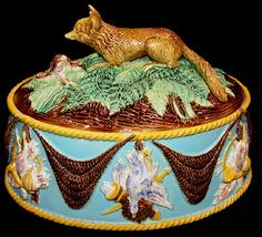 Majolica George Jones game pie tureen by Antique Majolica Specialist, via Flickr