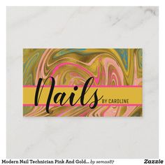 Modern Nail Technician Pink And Gold Marble Business Card Makeup Artist Logo, Makeup Artist Business Cards, Unique Business Cards, Business Card Logo, Artist Quotes Funny, Instagram Makeup Artist, Modern Nails, Gold Marble, Pink And Gold