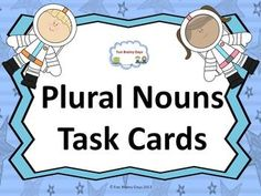 This include 20 picture task card where your student need to write the plural… Plural Nouns, First Year Teachers, Teaching Grammar, Fifth Grade, Creative Teaching, Teaching Materials, Task Cards, Learning Activities, Teacher Resources