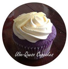Stepp Bakes: Ube-Queso Cupcakes Ube Cupcake Recipe, Cupcake Recipes, Cupcake Cakes, Dessert Recipes, Cupcakes, Cupcake Flavors, Cupcake Ideas, Pinoy Dessert, Filipino Desserts