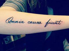 Tattoo Omnia causa fiunt