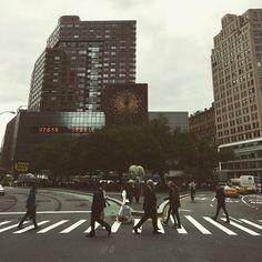 Walkin' in #nyc #endlessimagry #dayinthecity #crosswalk #publicart #Q #art