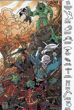 Usagi Yojimbo Akira, Comic Books Art, Comic Art, Usagi Yojimbo, Dark Horse, Dragon Age, Buffy, The Last Airbender, Teenage Mutant Ninja Turtles