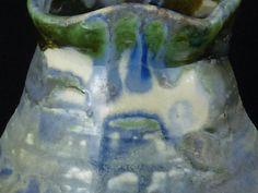 Blue/Green Salt Fired Porcelain Vase by WheelofLightStudio on Etsy