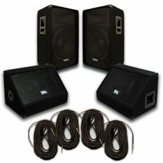 "Seismic Audio - Pair of 15"" PA DJ SPEAKERS 10"" FLOOR MONITORS 4 SPEAKER CABLES PRO AUDIO - Band, Bar, Wedding by Seismic Audio. $599.99. Seismic Audio - Pair of 15"" PA DJ SPEAKERS 10"" FLOOR MONITORS 4 SPEAKER CABLES PRO AUDIO"