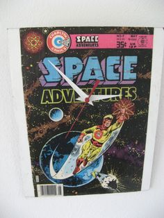 Space Adventures  clock by ComicClocks on Etsy, $20.00