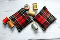 Red plaid flannel rice pocket hand warmers! #Handemade by the NorthernHare.Etsy.com Keep #cozy and #warm this #winter