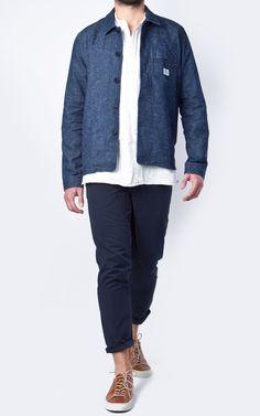 c161685c4ce Norse Projects Kyle Hemp Denim Work Jacket Indigo