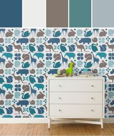 GIO AQUA WALLPAPER Designed By DwellStudio via Stylyze