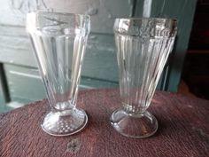 Vintage Set of Tall Ice Cream Soda Glasses | SelectionsBySusan - Kitchen & Serving on ArtFire