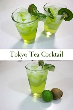 A Tokyo Iced Tea Cocktail recipe. This quick and easy mixed drink recipe is made with vodka, rum, gin, tequila, triple sec and Midori® melon liqueur A delicious alcoholic drink recipe!