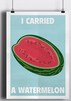 """Happy Birthday, Patrick Swayze.  We Miss You.  Gifts for Her:  Dirty Dancing Print """"Watermelon"""" by Meet Me In Shermer @ Etsy."""
