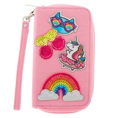 Shop Claire's for the latest trends in jewelry & accessories for girls, teens, & tweens. Find must-have hair accessories, stylish beauty products & more. Wallets For Girls, Cute Wallets, Claire's Accessories, School Accessories, Irregular Shoes, Unicorn Tattoos, Patch Design, Babe, Birthday Wishlist