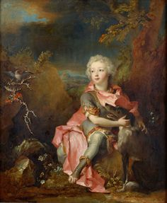 Portrait of a Young Nobleman (with his faithful hound), 1714, by Nicolas de Largilliere