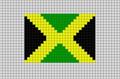 Flag of Jamaica Pixel Art from BrikBook.com #Jamaica #FlagofJamaica…