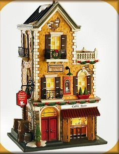 Caffé Tazio NEW Department Dept. 56 Christmas In The City Village CIC