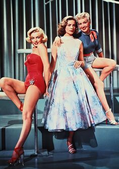 Marilyn Monroe, Lauren Bacall and Betty Grable in How to Marry a Millionaire (1953).