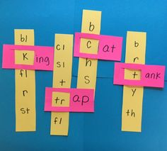 PHONICS PROJECT to help kids learn to sound out word to read.