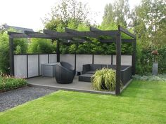 Balkon Design # Gardening, # garden, # pergola, www. Small Pergola, Pergola Attached To House, Pergola With Roof, Pergola Shade, Pergola Plans, Pergola Kits, White Pergola, Covered Pergola, Outdoor Pergola