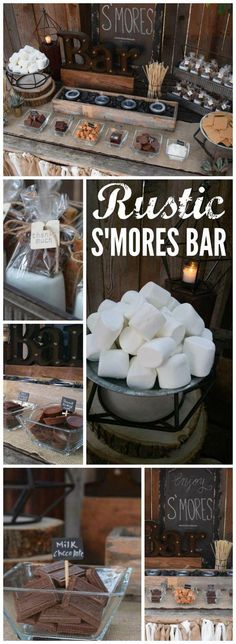rustic s'mores bar station was at a backyard wedding! See more party ideas . This rustic s'mores bar station was at a backyard wedding! See more party ideas . - -This rustic s'mores bar station was at a backyard wedding! See more party ideas . Perfect Wedding, Dream Wedding, Wedding Day, Wedding Rustic, Trendy Wedding, Wedding Burlap, Summer Wedding, Wedding Favors, Wedding Signs
